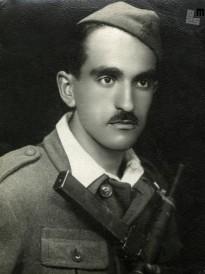 Portret Edija Šelhausa – partizana, takoj po koncu 2. Svetovne vojne, foto: neznan. Portret Edija Šelhausa, Trst, 13. februar 1954.