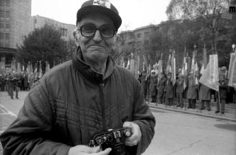 Edi Šelhaus na proslavi ob obletnici ustanovitve OF, Ljubljana, 27. april 1991, foto: Tone Stojko.