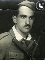 6. Portret Edija Šelhausa v partizanski uniformi, takoj po koncu 2. svetovne vojne, 1945, foto: neznan.